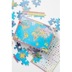 World Map Puzzle By Eeboo in Assorted