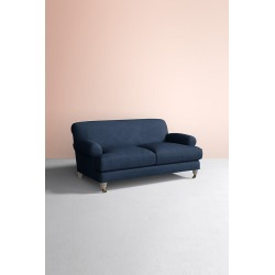 Willoughby Sofa, Performance Linen with Wilcox Leg - Blue found on Bargain Bro UK from Anthropologie UK