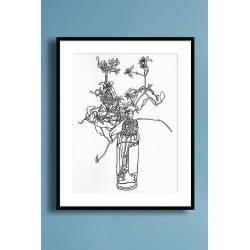 Flower Sketch 1 Wall Art found on Bargain Bro UK from Anthropologie UK