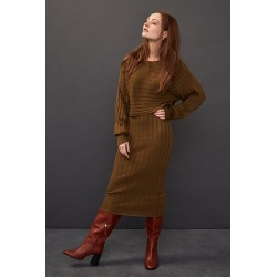 Current Air Clea Ribbed Midi Dress found on MODAPINS from Anthropologie UK for USD $116.71