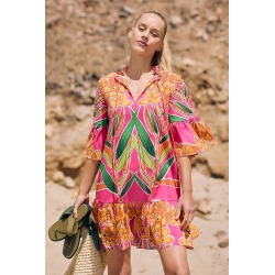 Tropical Beaded Caftan By Roopa Pemmaraju in Pink Size S found on Bargain Bro from Anthropologie for USD $114.00