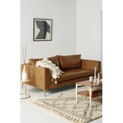 Edlyn Leather Sofa - Gold found on Bargain Bro UK from Anthropologie UK