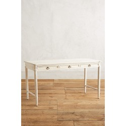 Washed Wood Desk By Anthropologie in White