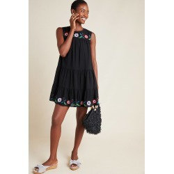 Colina Embroidered Swing Dress found on MODAPINS from Anthropologie for USD $189.00