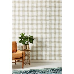 Magnolia Home Watercolor Check Wallpaper By York Wallcoverings in Assorted found on Bargain Bro from Anthropologie for USD $59.28