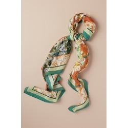 Alice Archer x Anthropologie Floral Silk Scarf - Green found on MODAPINS from Anthropologie UK for USD $122.74