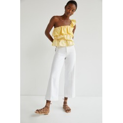 Paige Ultra High-Rise Cropped Wide-Leg Jeans By Paige in White Size 30 found on Bargain Bro from Anthropologie for USD $143.64