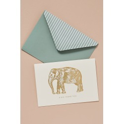 Elephant Note Cards - Green found on Bargain Bro UK from Anthropologie UK