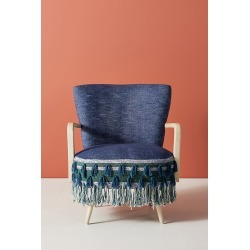 All Roads Shae Accent Chair - Blue found on Bargain Bro UK from Anthropologie UK