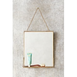 Christiana Brass Shelved Mirror By Anthropologie in Brown found on Bargain Bro from Anthropologie for USD $28.88