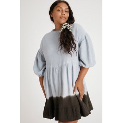 Dariya Dip-Dyed Tunic Dress By Current Air in Blue Size M found on MODAPINS from Anthropologie for USD $49.95