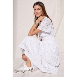 Maeve Somerset Maxi Dress By Maeve in White Size S found on Bargain Bro from Anthropologie for USD $135.28