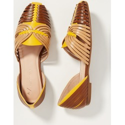 Leyla Woven Flats By Anthropologie in Yellow Size 7 W found on Bargain Bro India from Anthropologie for $120.00