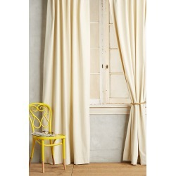 Matte Velvet Curtain By Anthropologie in White Size 50X63 found on Bargain Bro Philippines from Anthropologie for $238.00