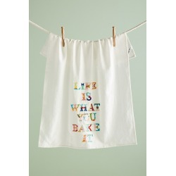 Life's What You Bake It Dish Towel found on Bargain Bro UK from Anthropologie UK