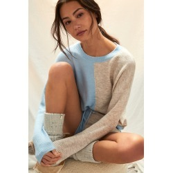 Lea Colorblocked Knit Lounge Set By Saturday/Sunday in Blue Size 2 X found on Bargain Bro India from Anthropologie for $82.60