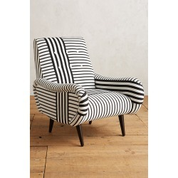 Striped Losange Chair - Blue found on Bargain Bro UK from Anthropologie UK