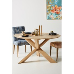 Oak Circle Dining Table By Ethnicraft in Beige