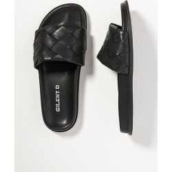 Silent D Woven Slide Sandals By Silent D in Black Size 38 found on Bargain Bro from Anthropologie for USD $66.88