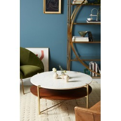 Elemental Layers Coffee Table By Anthropologie in Brown