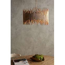 Gathered Glow Chandelier By Anthropologie in Gold found on Bargain Bro from Anthropologie for USD $1,320.88