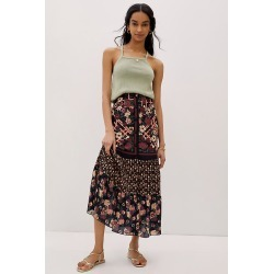 Anna Sui Trellis of Flowers Maxi Skirt By Anna Sui in Assorted Size 8 found on MODAPINS from Anthropologie for USD $574.00