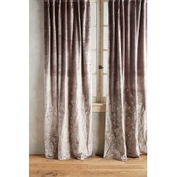 Floral Field Curtain By Anthropologie in Silver Size 50X63 found on Bargain Bro from Anthropologie for USD $120.08