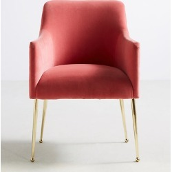 Elowen Dining Chair with Arm Rest - Pink found on Bargain Bro UK from Anthropologie UK