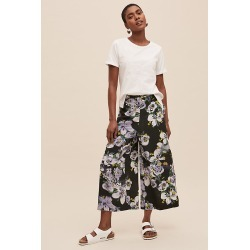 Alice Archer x Anthropologie Floral-Print Wide-Leg Trousers - Green, Size Uk 12 found on MODAPINS from Anthropologie UK for USD $150.30