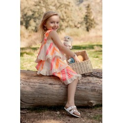Petra Embroidered Kids Dress By Devotion in Assorted Size 6-8/2xs