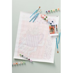 Adult Paint-By-Numbers Kit By Paint At Home Store in Orange