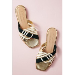 Alice Archer x Anthropologie Leather Sandals - Gold, Size 38 found on MODAPINS from Anthropologie UK for USD $156.56