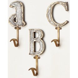 Marquee Letter Hook By Anthropologie in Bronze Size X found on Bargain Bro from Anthropologie for USD $15.20