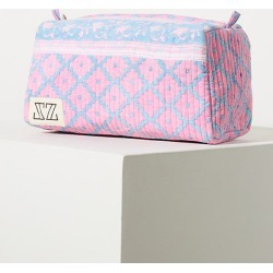 SZ Blockprints Rita Makeup Pouch By SZ Blockprints in Pink found on MODAPINS from Anthropologie for USD $88.00