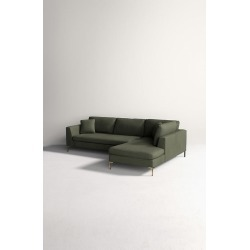 Edlyn Right Corner Sofa, Performance Linen - Green found on Bargain Bro UK from Anthropologie UK