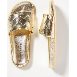 Silent D Woven Slide Sandals By Silent D in Gold Size 41 found on Bargain Bro from Anthropologie for USD $66.88