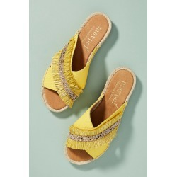 Maypol Fringed Espadrille Slide Sandals