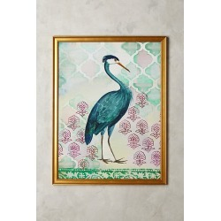 Blue Heron Wall Art By Artfully Walls in Blue found on Bargain Bro from Anthropologie for USD $287.28
