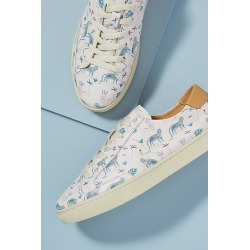 Soludos Leopard-Print Leather Trainers found on Bargain Bro UK from Anthropologie UK