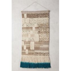 Navy-Dipped Kilim Tapestry Wall Art By Anthropologie in Blue found on Bargain Bro from Anthropologie for USD $173.28