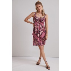 Anna Sui Rosette Mini Dress By Anna Sui in Purple Size 0 found on MODAPINS from Anthropologie for USD $519.00