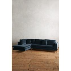 Velvet Edlyn Left Corner Sofa - Blue found on Bargain Bro UK from Anthropologie UK