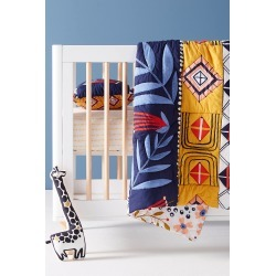 Anisa Makhoul Geo Vine Toddler Quilt found on Bargain Bro India from Anthropologie for $98.00