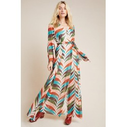 Elysees Geometric Wrap Maxi Dress By Hutch in Assorted Size XS P