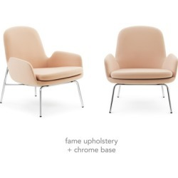 Era Lounge Chair Low: Steel or Chrome Base [Steel Base + Ultra Leather Upholstery]