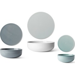 New Norm Dinnerware: Bowl + Plate/Lid [X Small Low Bowl - White]