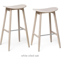Icha Bar + Counter Stool [Counter Stool - Red Lacquered Beech]