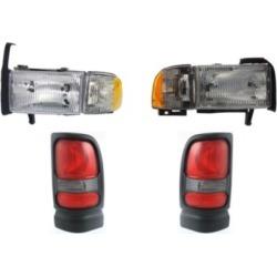 1994-1998 Dodge Ram 1500 Headlight Replacement Dodge Headlight KIT1-110916-39-A