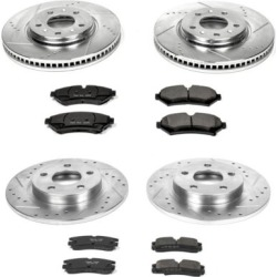 2003 Cadillac Seville Brake Disc and Pad Kit Powerstop Cadillac Brake Disc and Pad Kit K2732 found on Bargain Bro Philippines from autopartswarehouse.com for $343.02