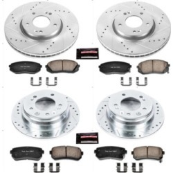 2012-2016 Kia Sportage Brake Disc and Pad Kit Powerstop Kia Brake Disc and Pad Kit K6512 found on Bargain Bro Philippines from autopartswarehouse.com for $286.64